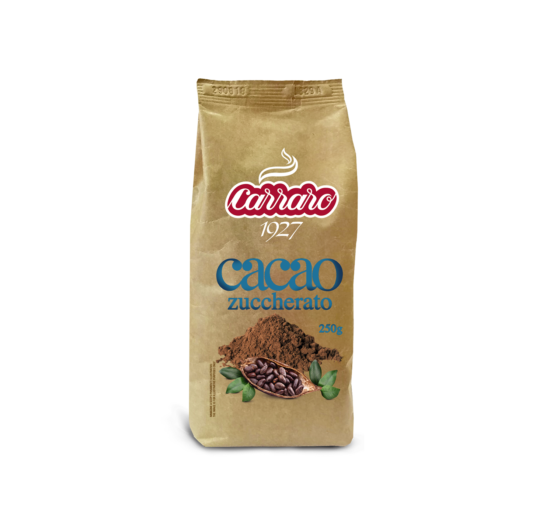 Cacao and Olandesino - Cacao zuccherato – 250 g - Shop online Caffè Carraro