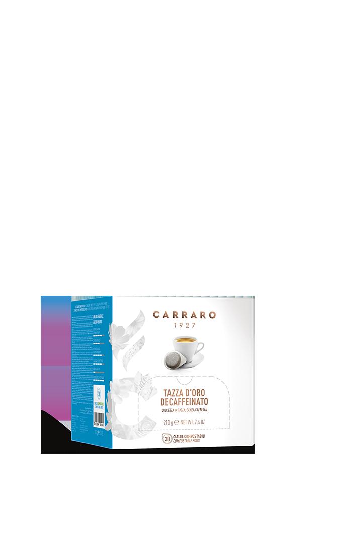 Tazza d'Oro decaffeinato – astuccio con 30 cialde monodose