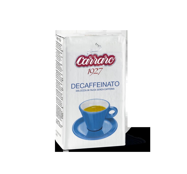 Caffè macinato - Decaffeinato – caffè macinato 250 g - Shop online Caffè Carraro