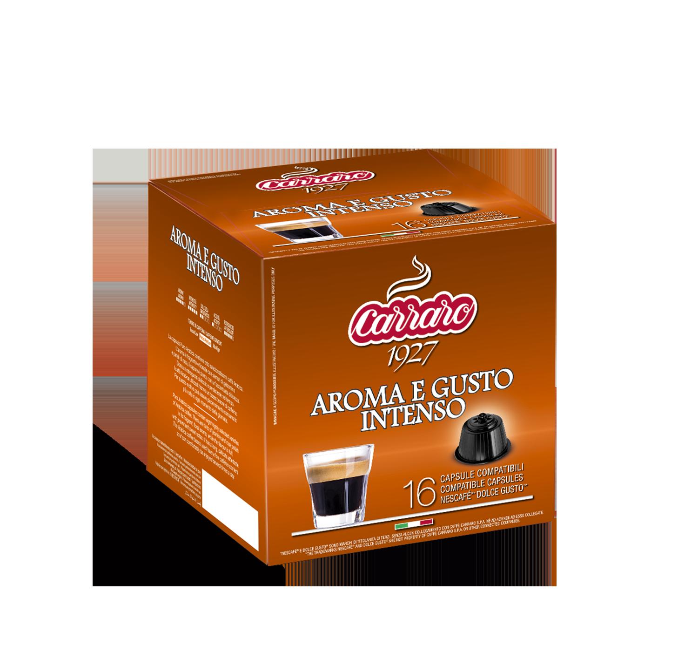 Capsule compatibili *Dolce Gusto<sup>®</sup> - Aroma e Gusto Intenso – 16 capsule - Shop online Caffè Carraro