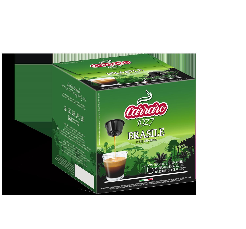 Capsule compatibili *Dolce Gusto<sup>®</sup> - Brasile – 16 capsule - Shop online Caffè Carraro