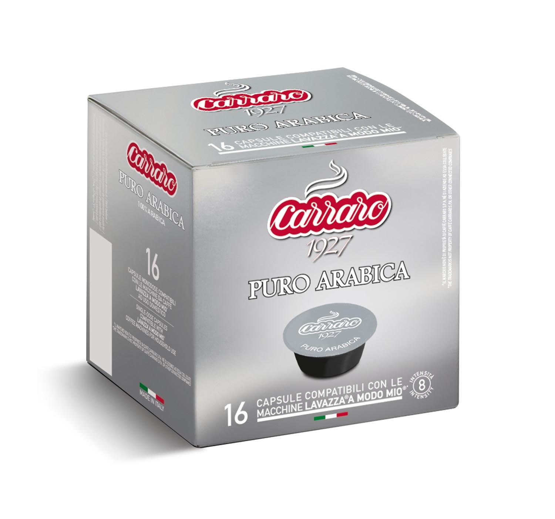 Capsules *A Modo Mio<sup>®</sup> compatible - Puro Arabica – 16 capsules - Shop online Caffè Carraro
