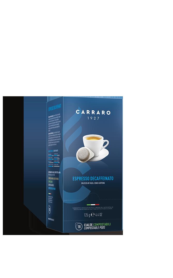 Espresso decaffeinato – 18 cialde da 7 g