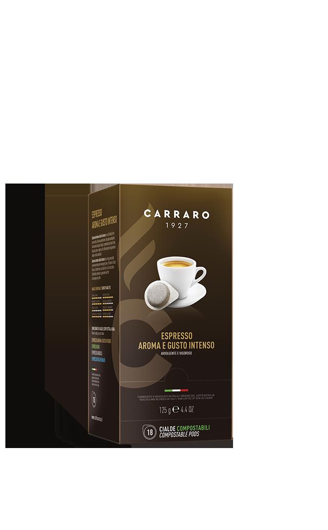 Espresso aroma e gusto intenso – 18 cialde da 7 g