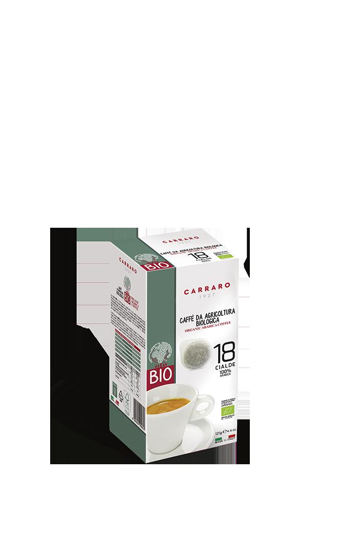 Bio – 18 cialde monodose di caffè 100% arabica