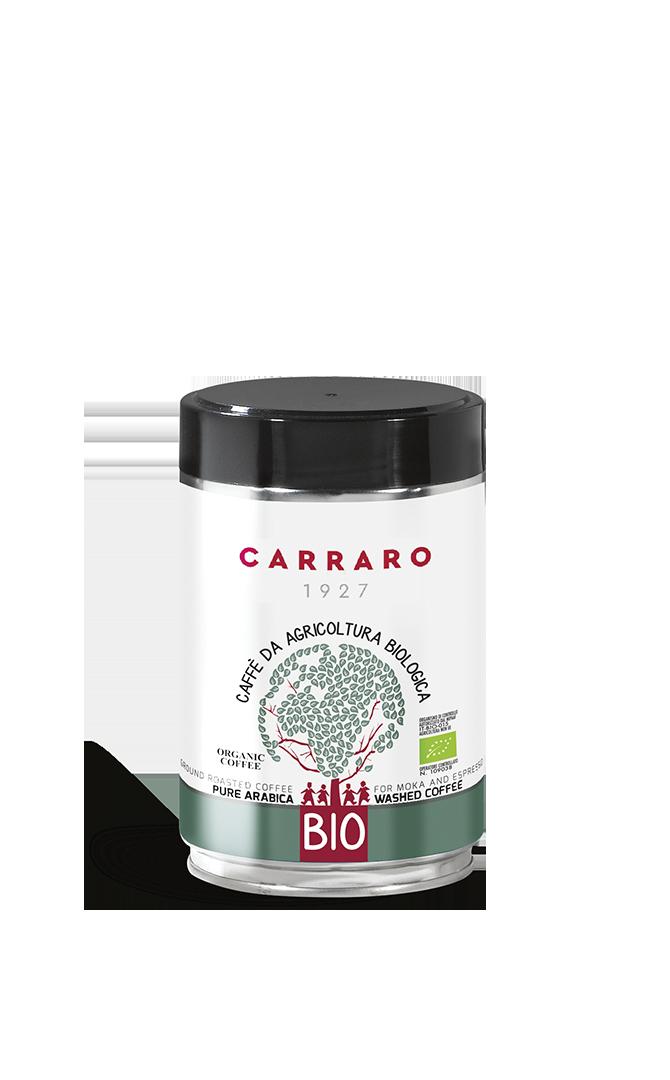 Bio – caffè macinato 100% arabica 250 g in latta