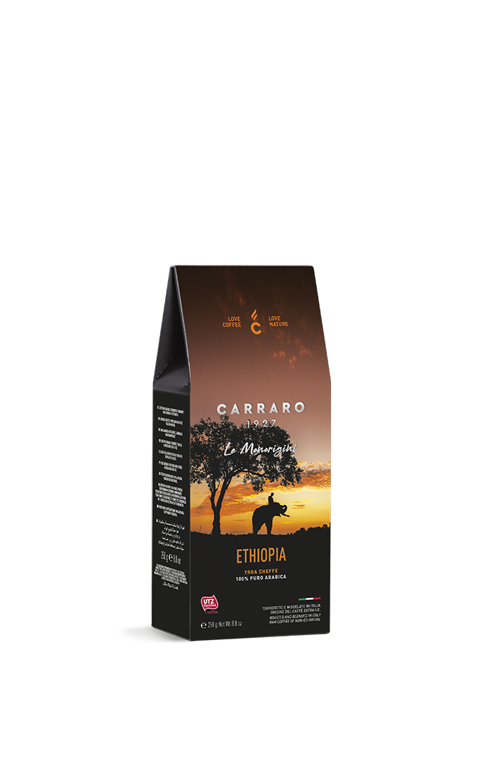 Ethiopia – ground coffee carton pack  da 250 g