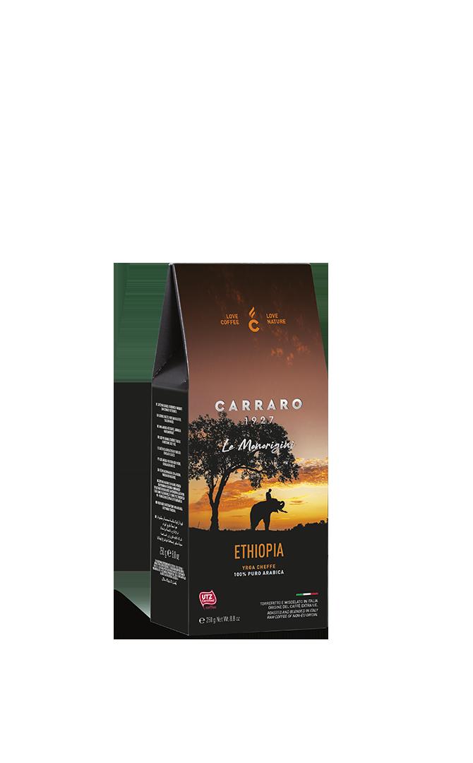 Ethiopia – caffè macinato in  astuccio  da 250 g