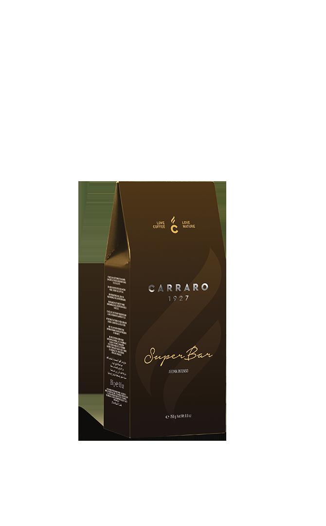 Super Bar – caffè macinato in  astuccio  da 250 g