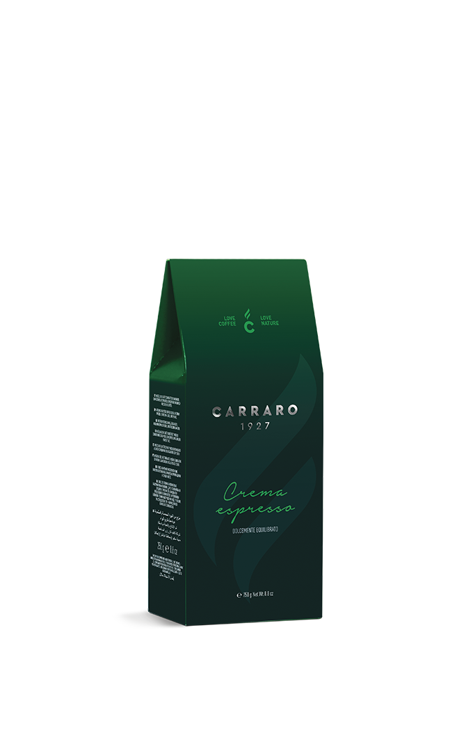 Crema Espresso – ground coffee carton pack  da 250 g