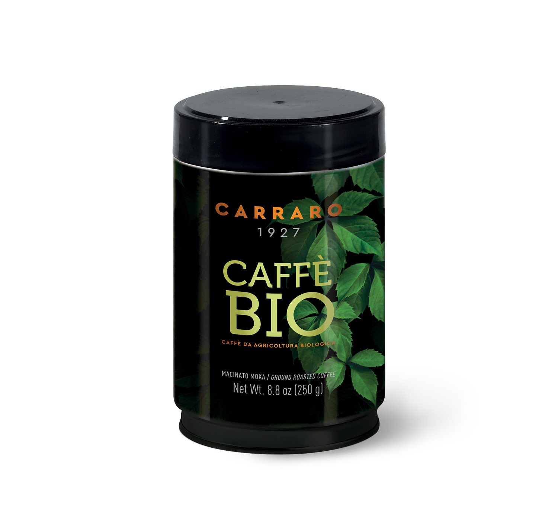Ground coffee - Bio – ground coffee 100% arabica 250 g tin packed - Shop online Caffè Carraro