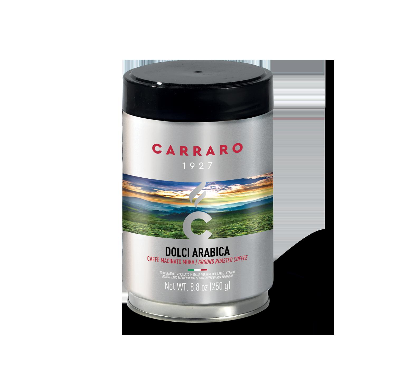 Caffè macinato - Dolci Arabica – caffè macinato 250 g in latta - Shop online Caffè Carraro