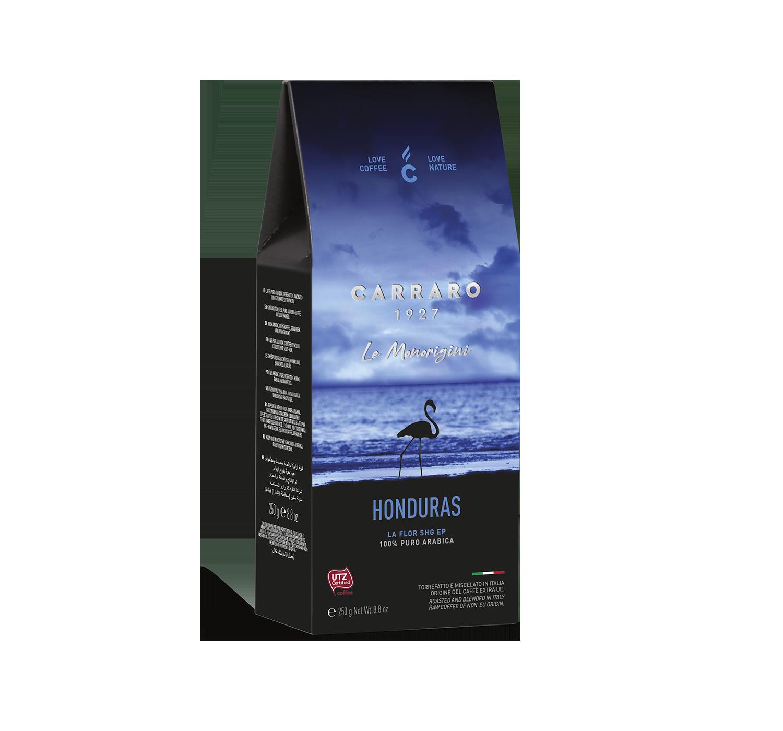 Ground coffee - Honduras – ground coffee carton pack 250 g - Shop online Caffè Carraro