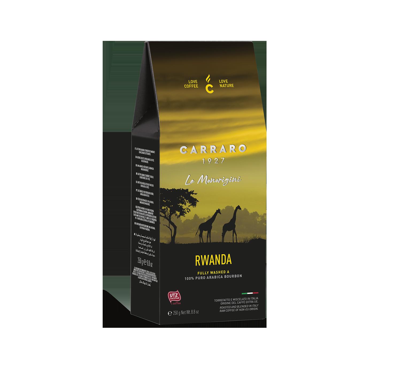 Caffè macinato - Rwanda – caffè macinato in  astuccio  da 250 g - Shop online Caffè Carraro