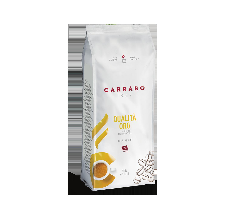 Caffè in grani - Qualità Oro – caffè in grani 500 g - Shop online Caffè Carraro