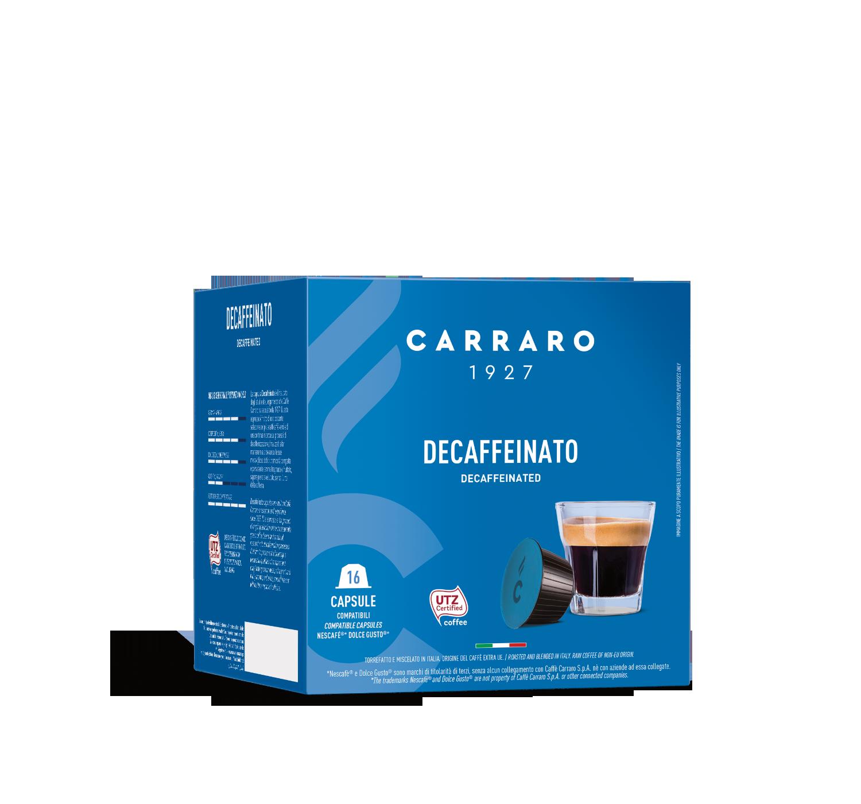Capsule compatibili *Dolce Gusto<sup>®</sup> - Decaffeinato – 16 capsule - Shop online Caffè Carraro
