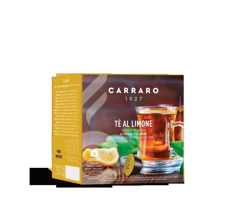 Capsule compatibili *Dolce Gusto<sup>®</sup> - Tè al limone – 16 capsule - Shop online Caffè Carraro