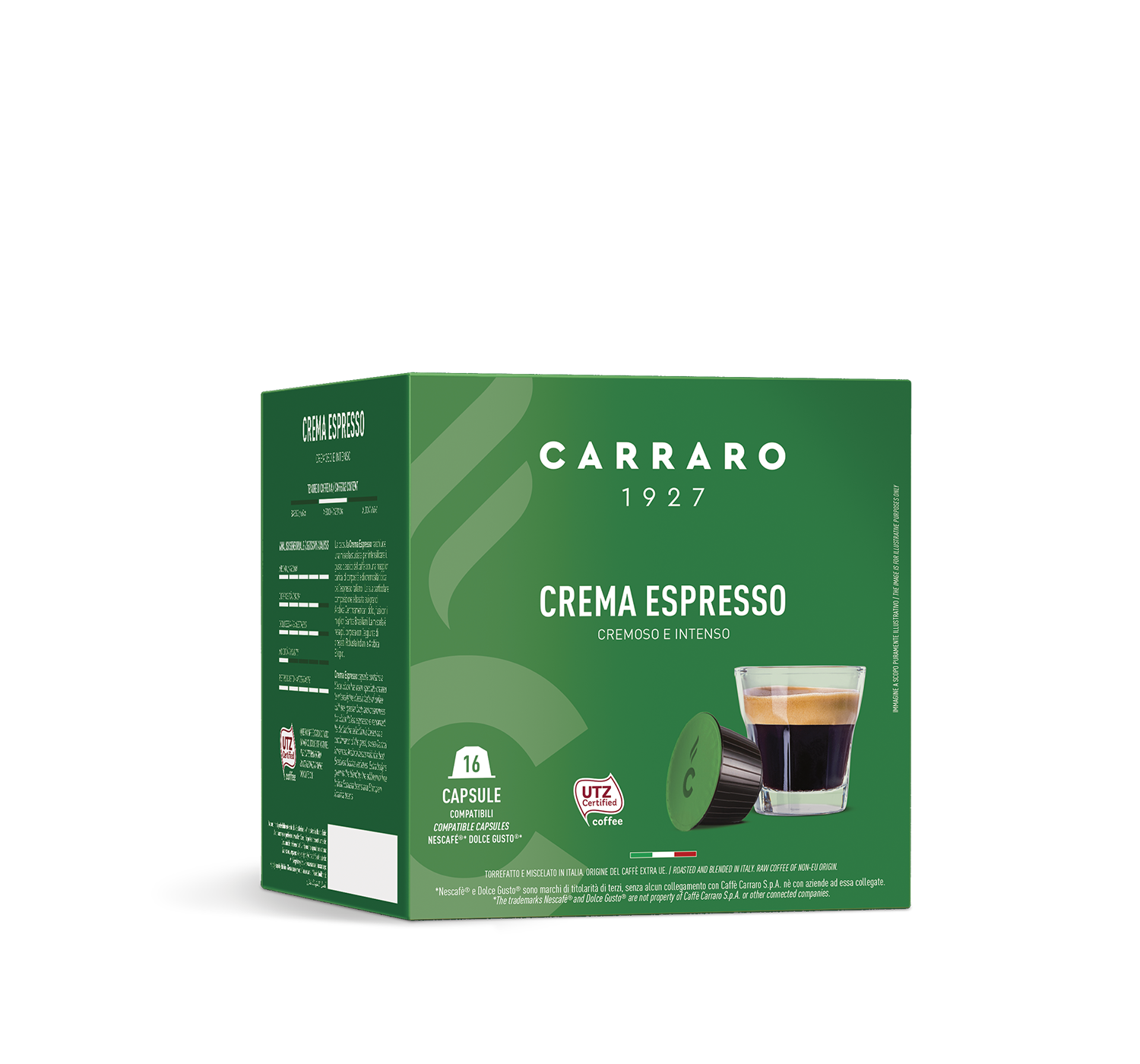 Capsules *Dolce Gusto<sup>®</sup> compatible - Brasile – 16 capsules - Shop online Caffè Carraro