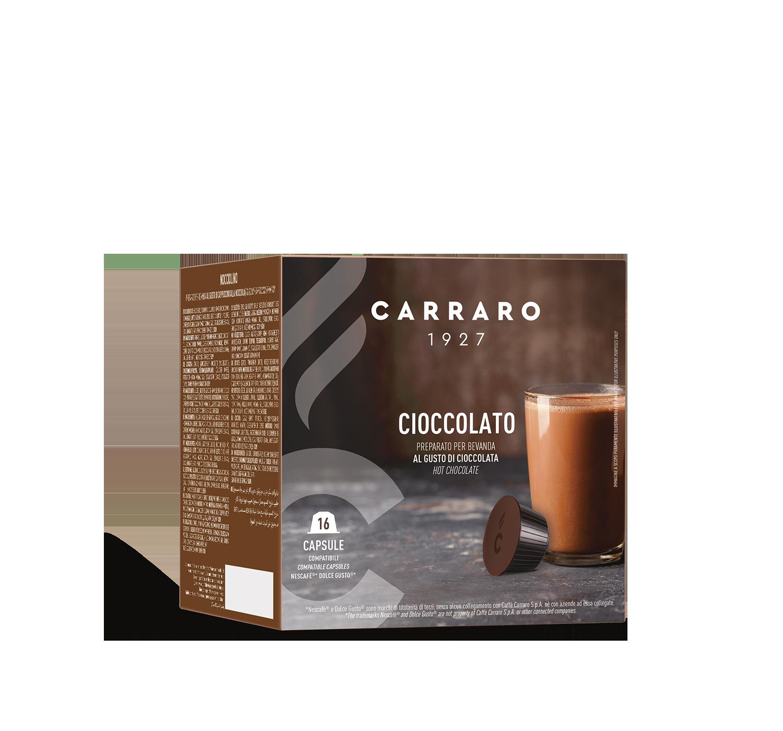 Capsule compatibili *Dolce Gusto<sup>®</sup> - Cioccolato – 16 capsule - Shop online Caffè Carraro