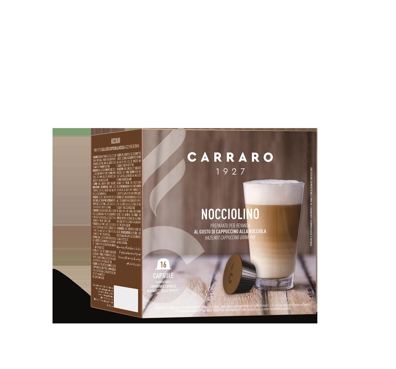Capsules *Dolce Gusto<sup>®</sup> compatible - Nocciolino – 16 capsules - Shop online Caffè Carraro