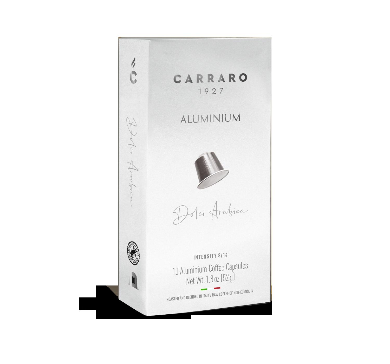 Capsule compatibili *Nespresso<sup>®</sup> - Dolci Arabica – 10 capsule in alluminio - Shop online Caffè Carraro