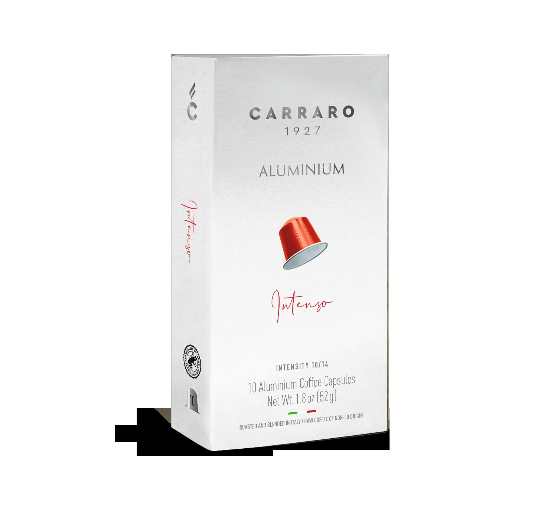 Capsule compatibili *Nespresso<sup>®</sup> - Intenso – 10 capsule in alluminio - Shop online Caffè Carraro