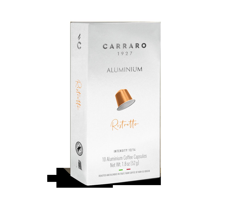 Capsule compatibili *Nespresso<sup>®</sup> - Ristretto – 10 capsule in alluminio - Shop online Caffè Carraro