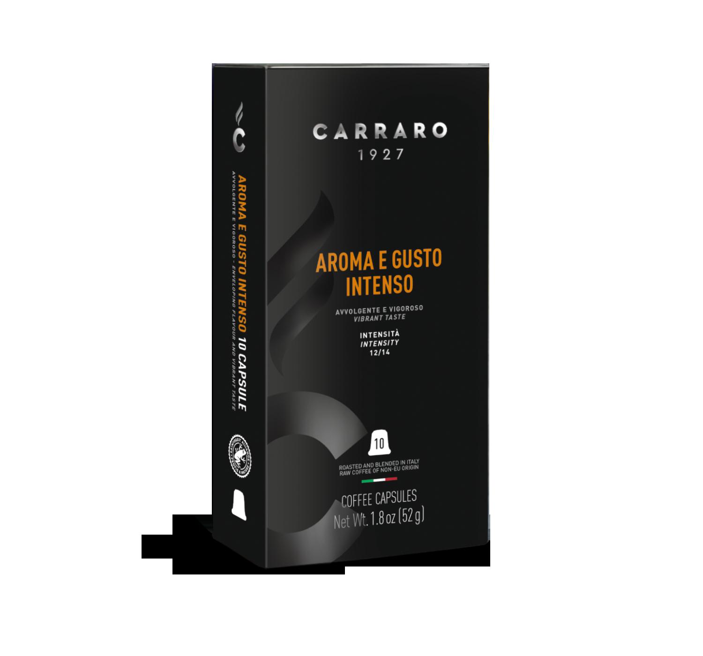 Capsule compatibili *Nespresso<sup>®</sup> - Aroma e Gusto Intenso – 10 capsule - Shop online Caffè Carraro