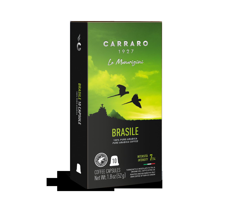 Capsule compatibili *Nespresso<sup>®</sup> - Brasile – 10 capsule - Shop online Caffè Carraro
