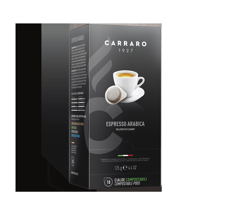 Cialde monodose ESE - Espresso Arabica – 18 cialde da 7 g - Shop online Caffè Carraro