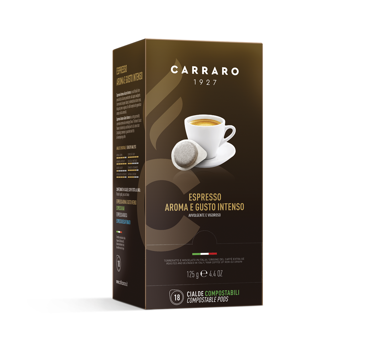 Cialde monodose ESE - Espresso Aroma e Gusto Intenso – 18 cialde da 7 g - Shop online Caffè Carraro