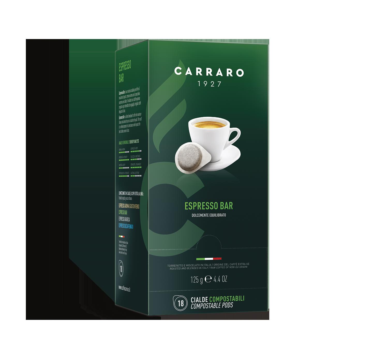 Cialde monodose ESE - Espresso Bar – 18 cialde da 7 g - Shop online Caffè Carraro