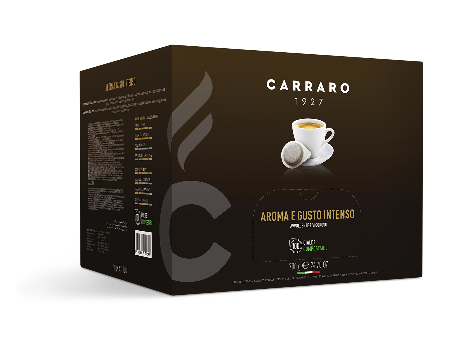 Espresso aroma e gusto intenso – 100 cialde da 7 g