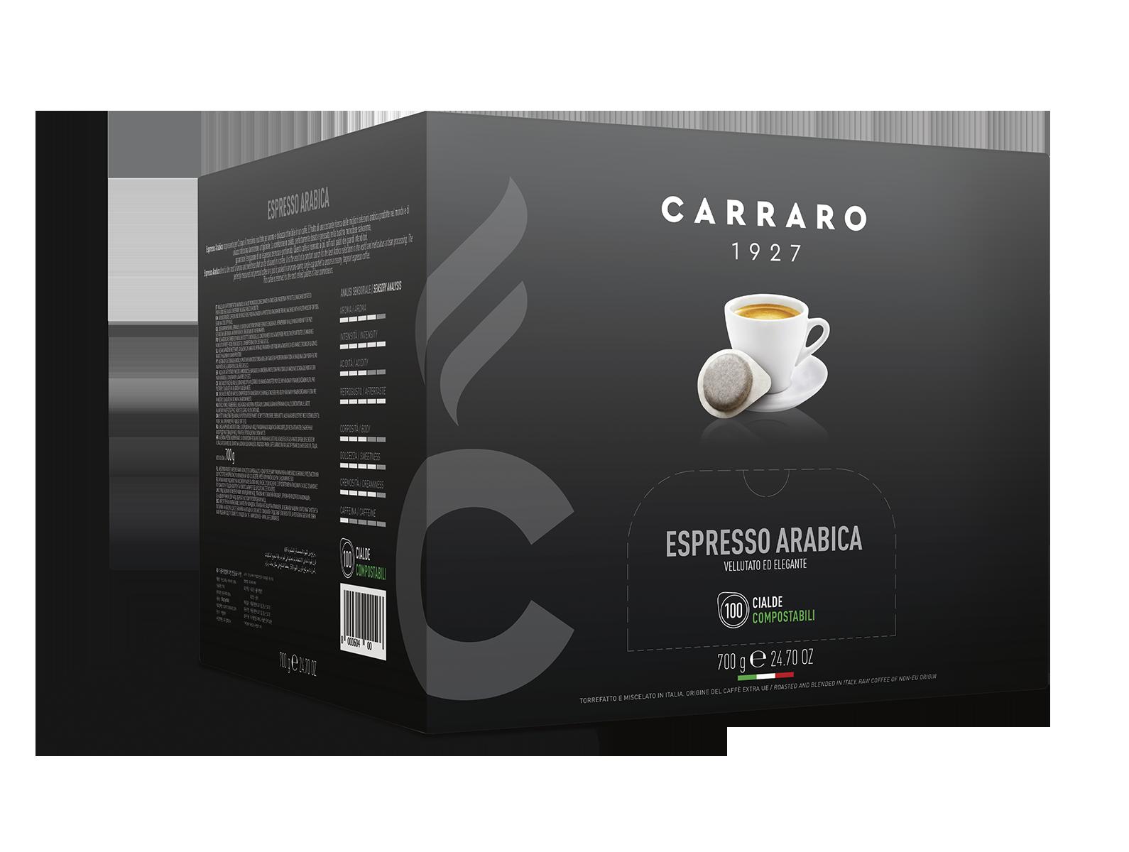 Espresso arabica 100% – 100 cialde da 7 g