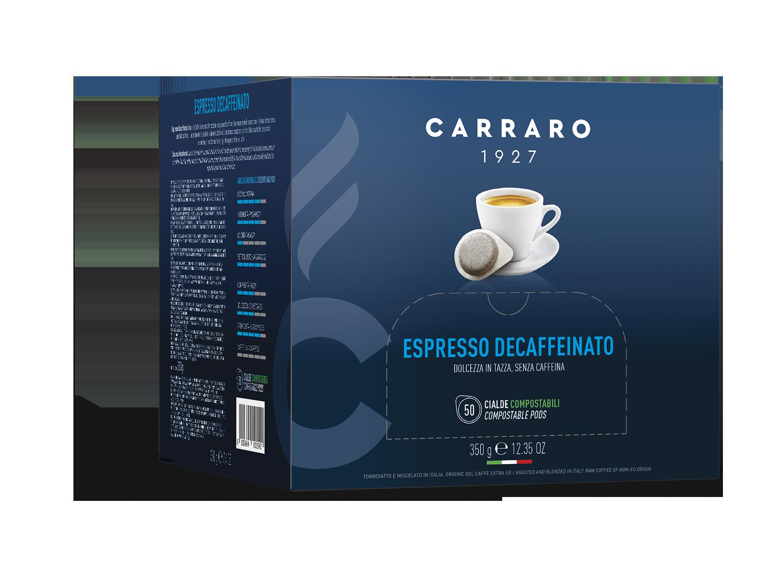 Espresso decaffeinato – 50 cialde da 7 g
