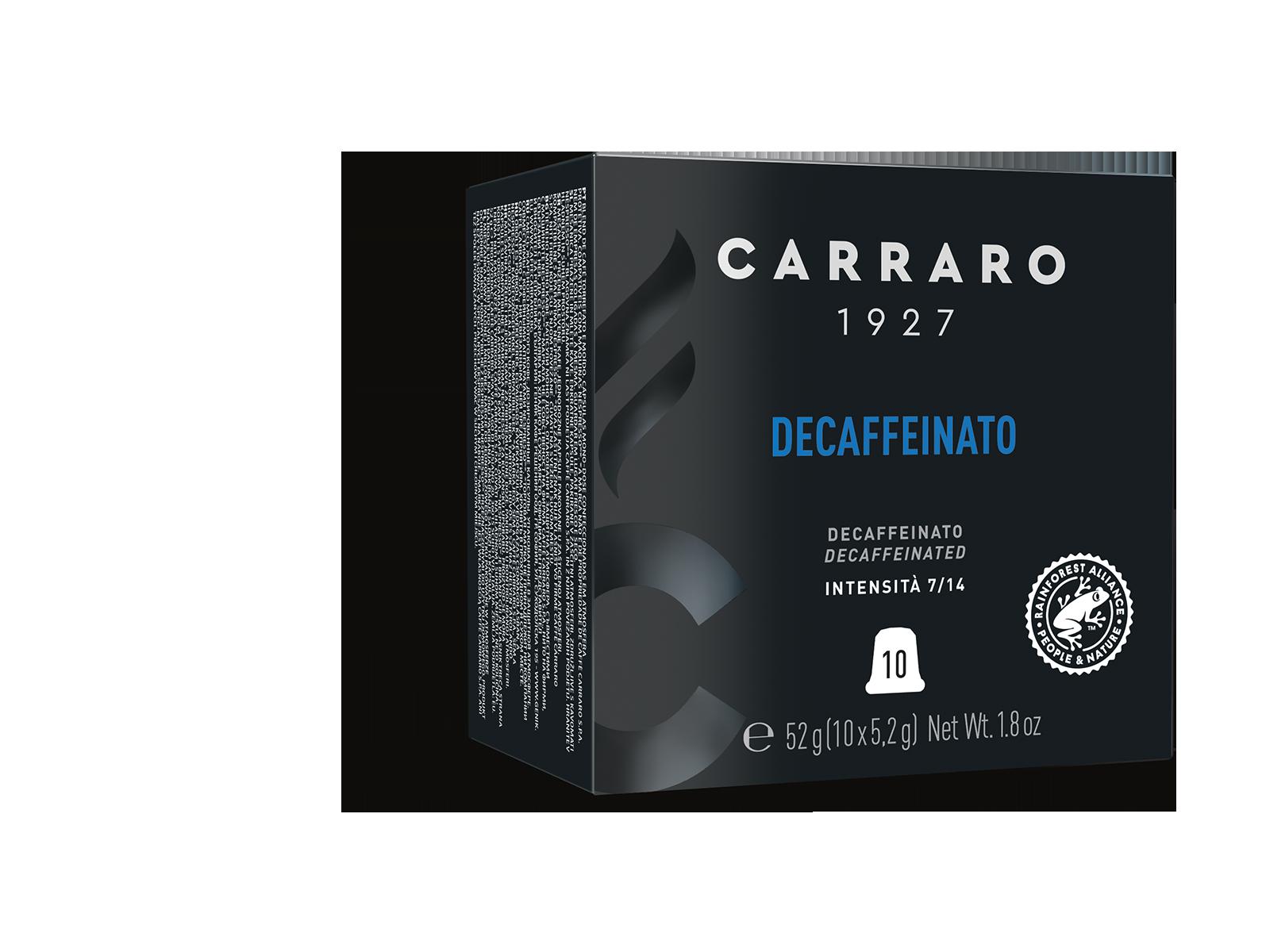 Decaffeinato – 10 capsule premium in astuccio cubo