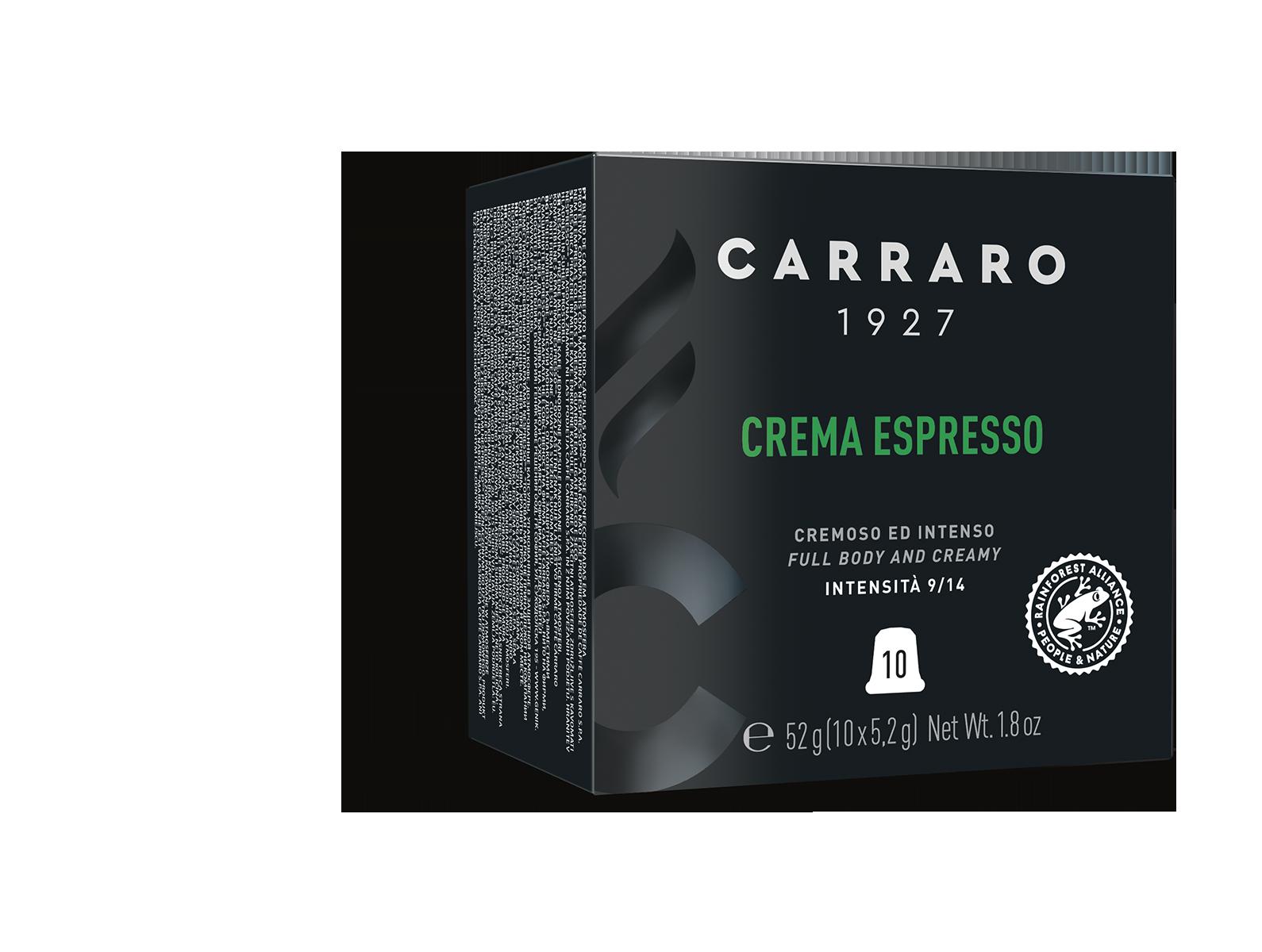 Crema Espresso – 10 capsule premium in astuccio cubo