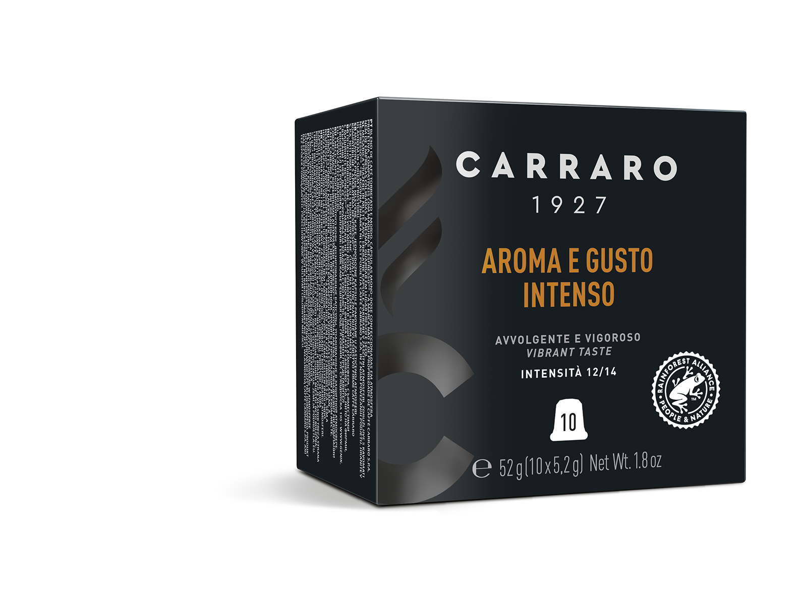 Aroma e Gusto Intenso – 10 premium capsuless in cube box