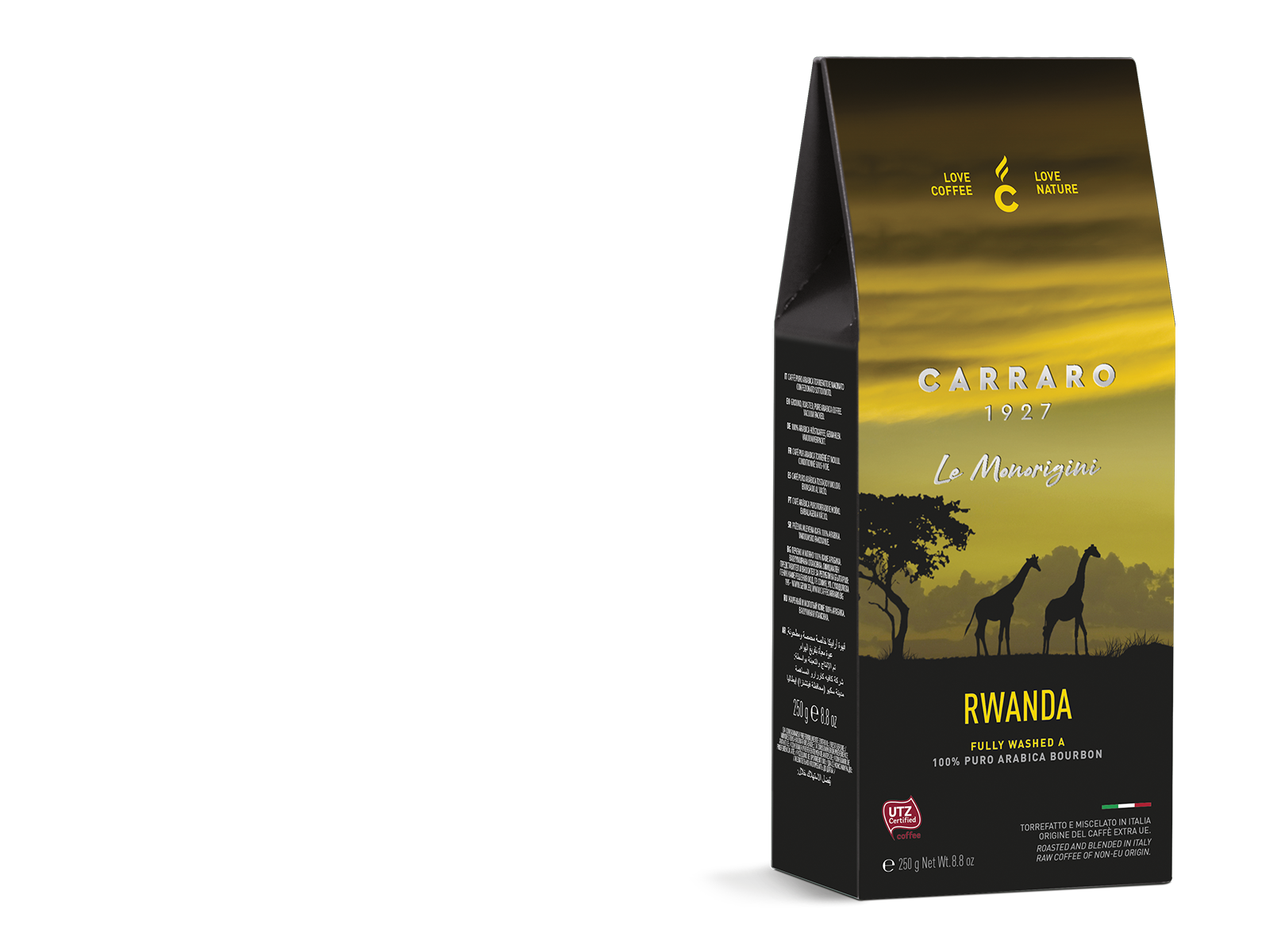 Rwanda – ground coffee carton pack  da 250 g