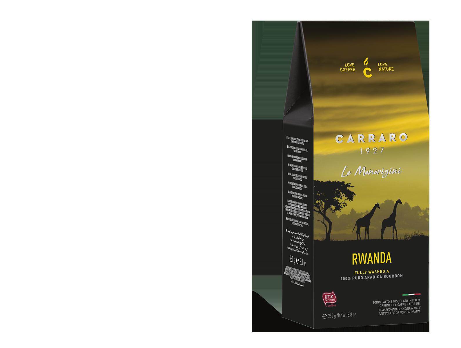 Rwanda – caffè macinato in  astuccio  da 250 g