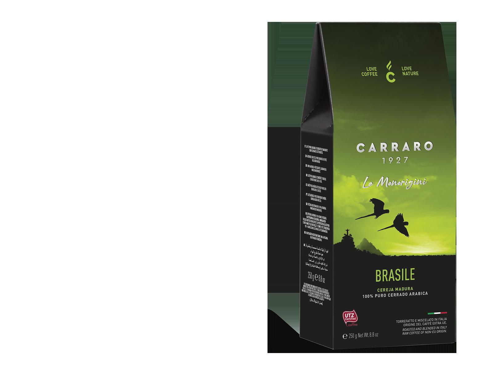 Brasile – caffè macinato in  astuccio  da 250 g