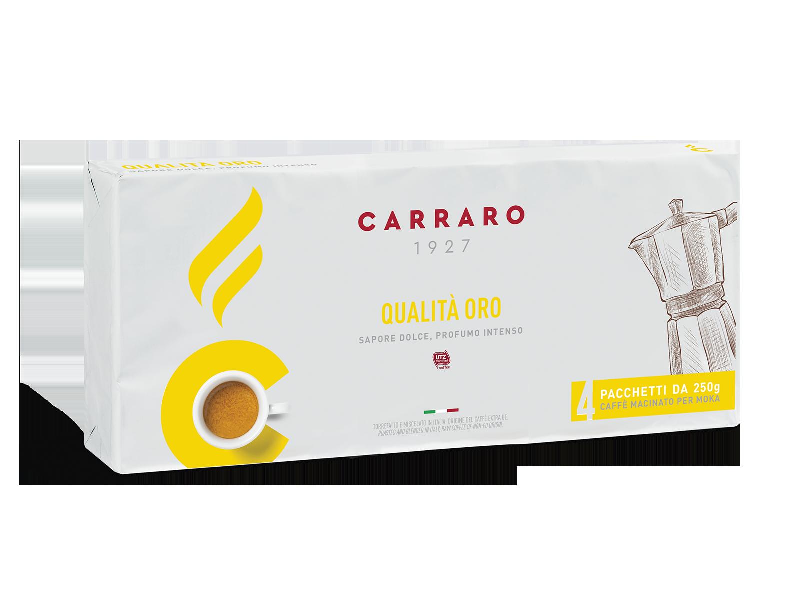 Qualità Oro – caffè macinato 4×250 g