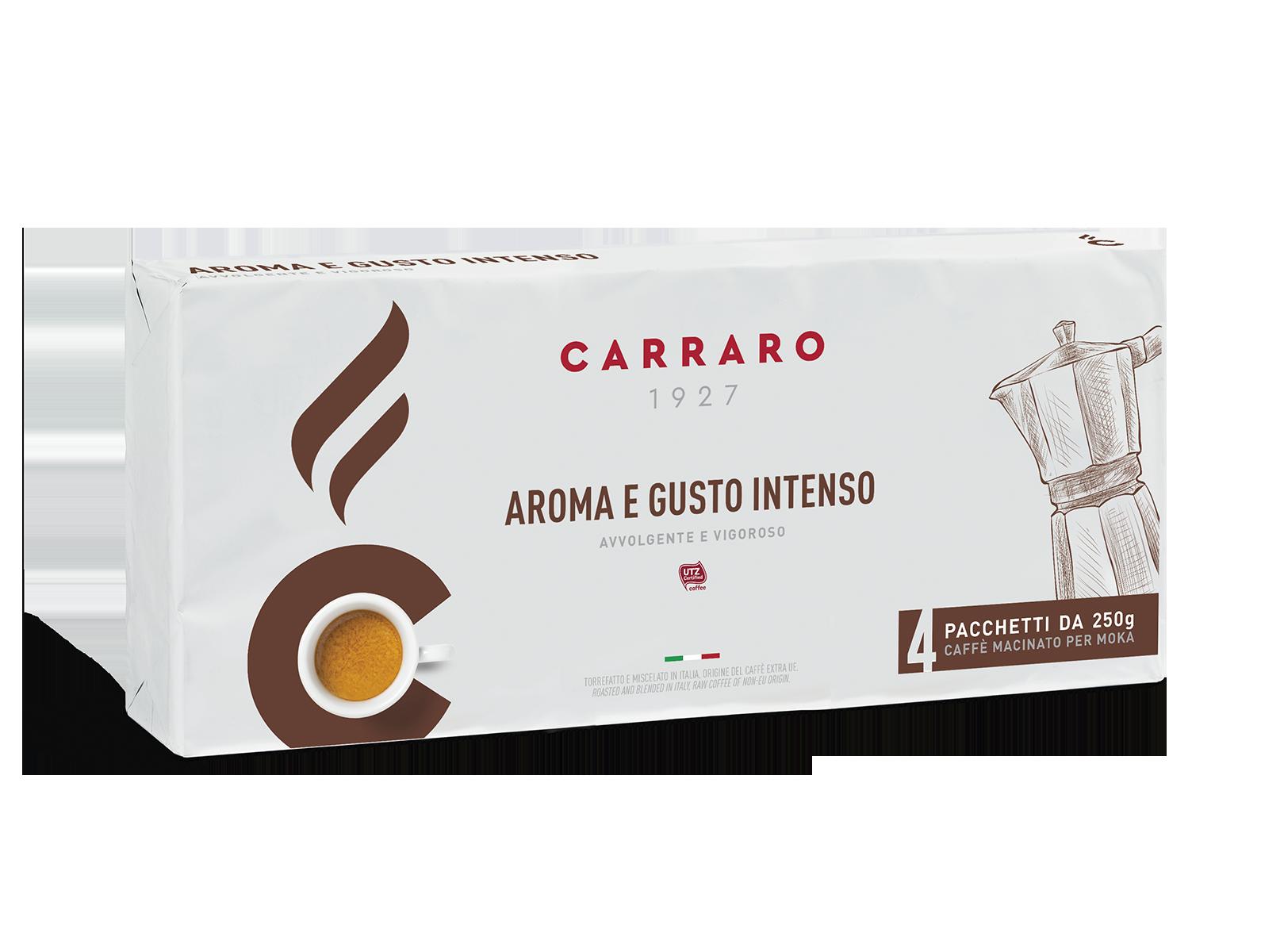 Aroma e Gusto Intenso – caffè macinato 4×250 g
