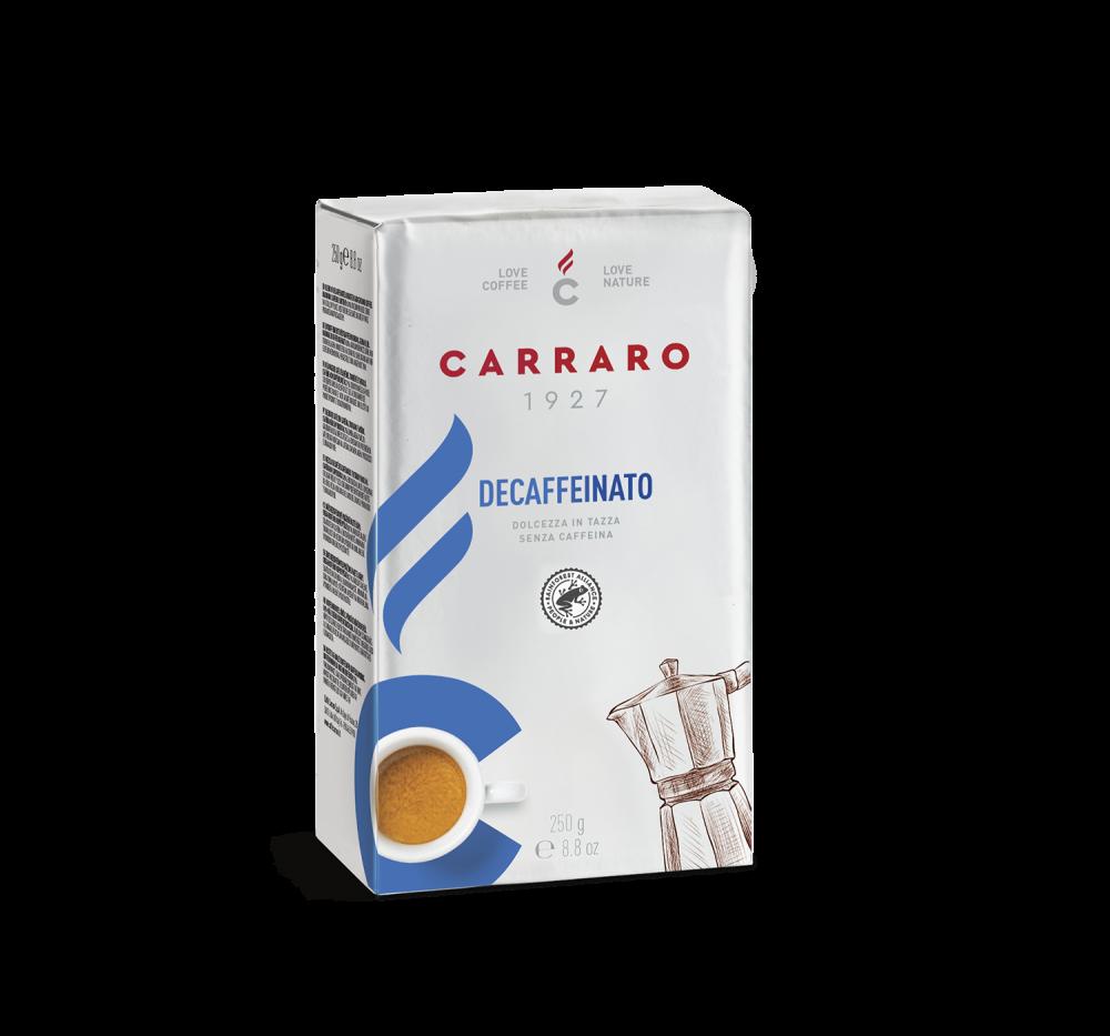 Decaffeinato – caffè macinato 250 g - Caffè Carraro