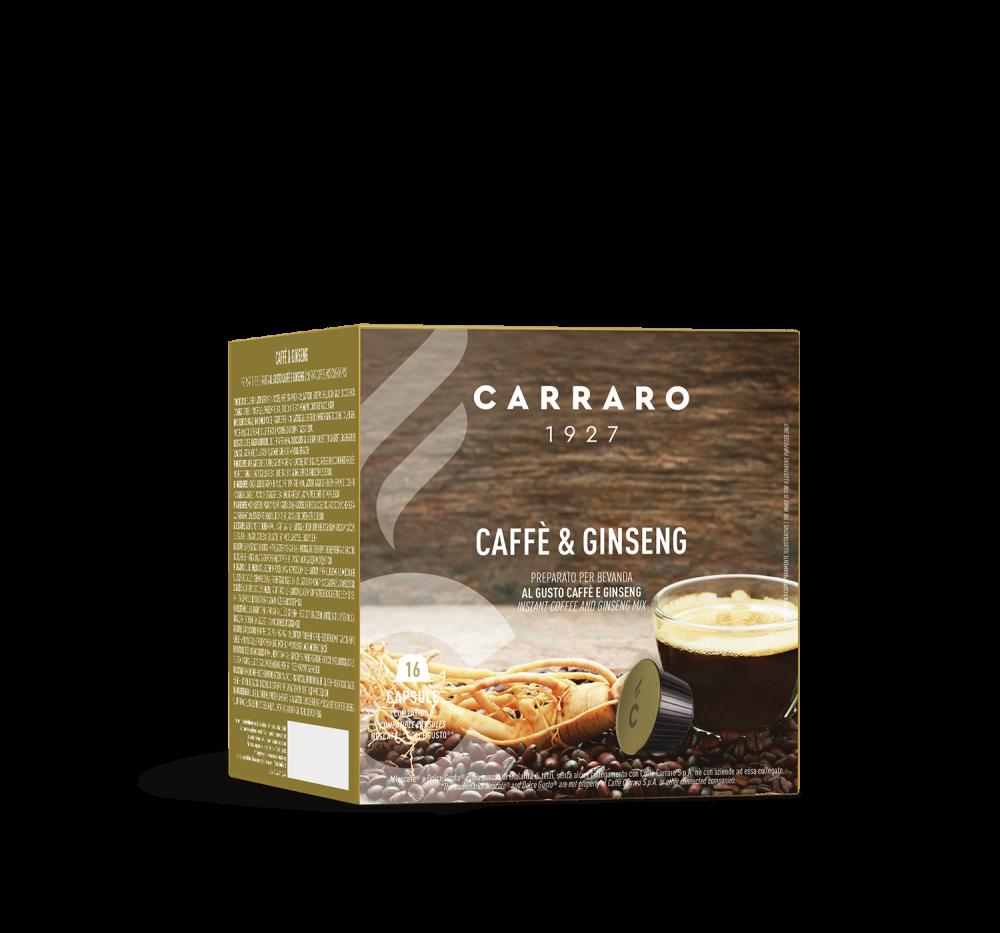 Caffè&Ginseng  – 16 capsules - Caffè Carraro
