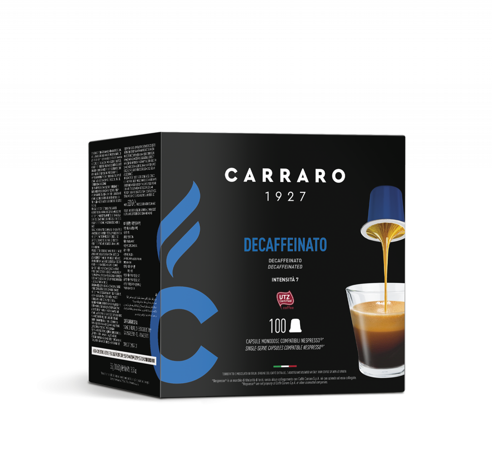 Decaffeinato – 100 capsule - Caffè Carraro