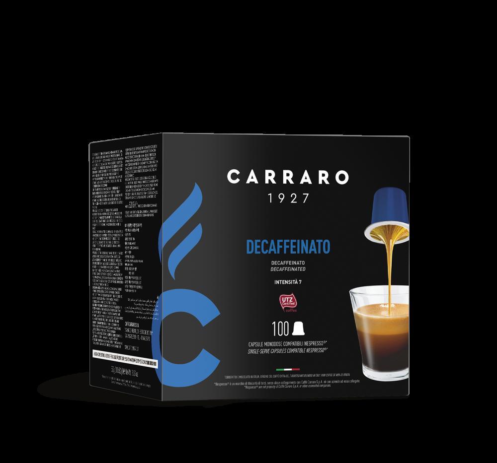 Decaffeinato – 100 capsules - Caffè Carraro