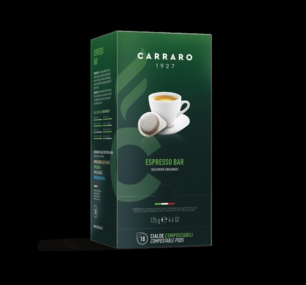 Espresso Bar – 18 pods of 7 g - Caffè Carraro