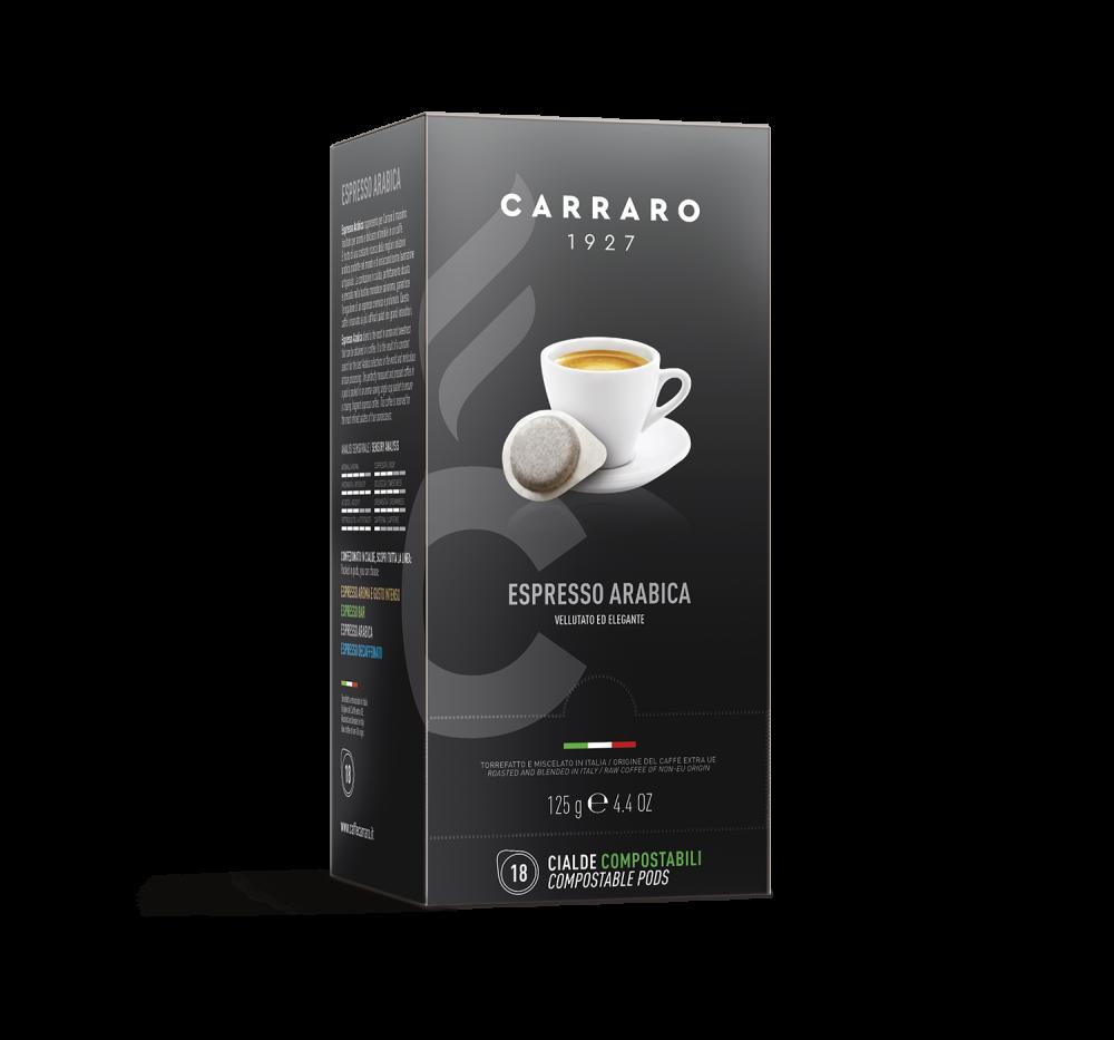 Espresso Arabica 100% – 18 pods of 7 g - Caffè Carraro