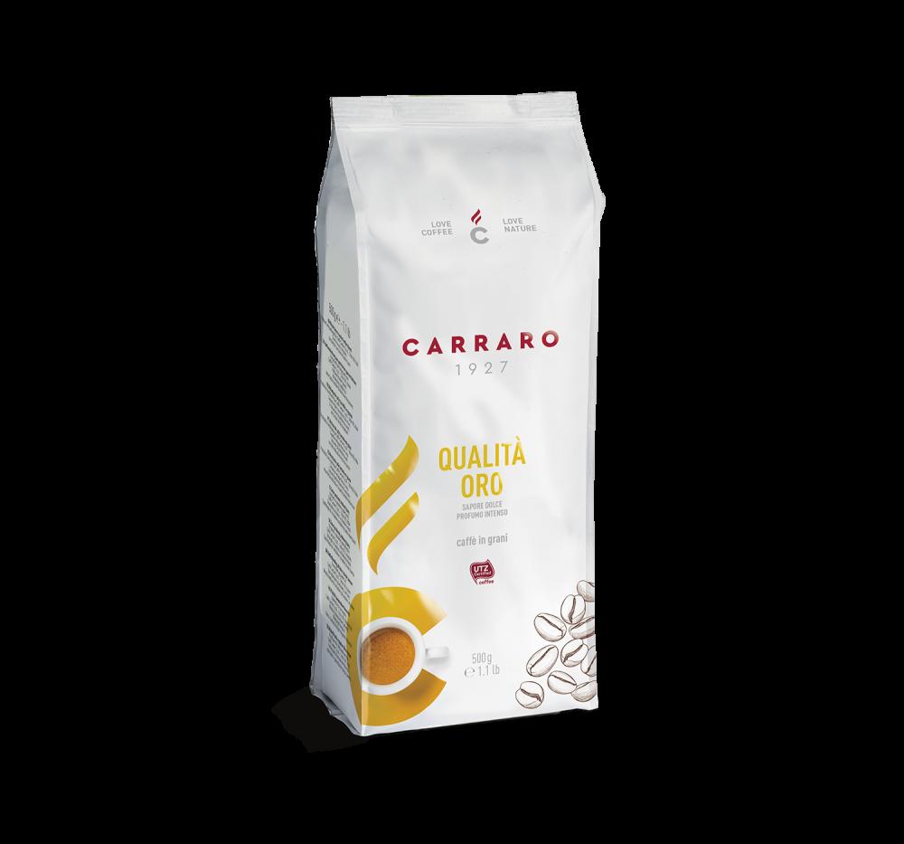 Qualità Oro – coffee beans 500 g - Caffè Carraro
